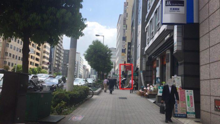 店の前の通り