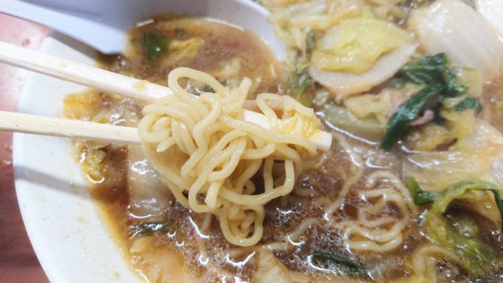 彩華ラーメンの麺