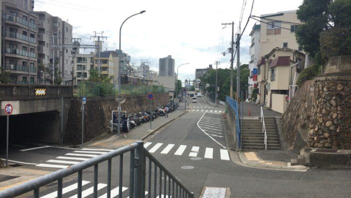 阪急六甲駅側の景色