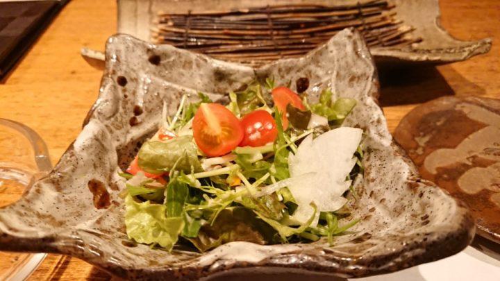 天ぷら の村のサラダ