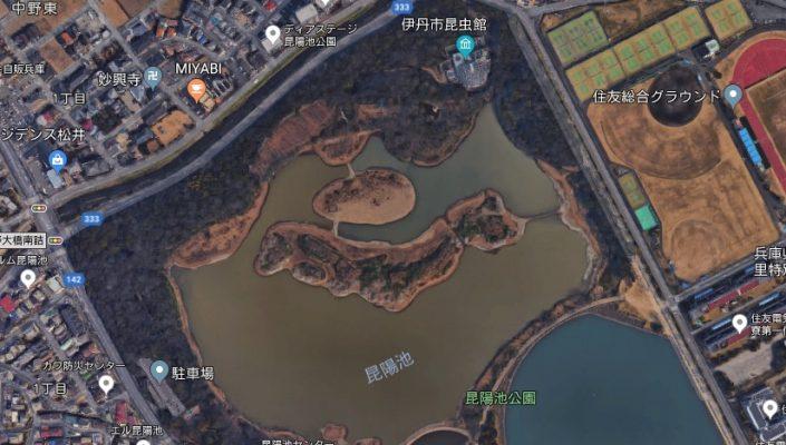 昆陽池公園(航空写真)