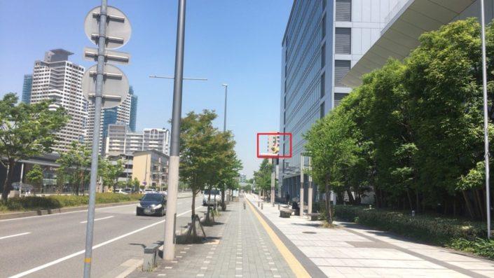 東側の道路