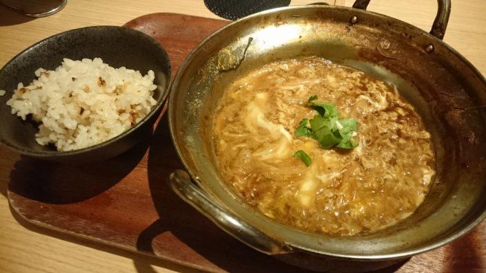 穴すき鍋の雑炊