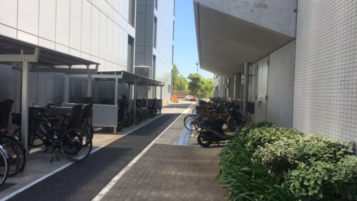 JICAの駐輪場