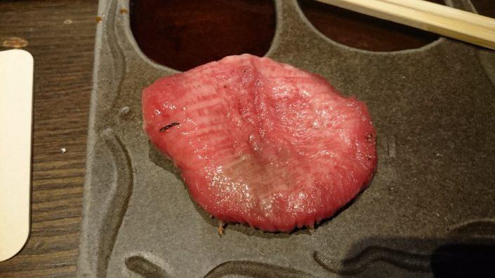特選塩タンの片面焼き