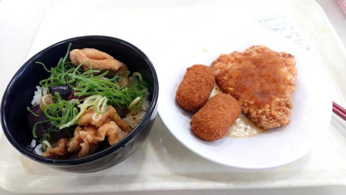東雲が頼んだ料理(国分食堂)