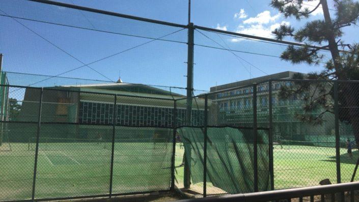 灘高のテニスコート