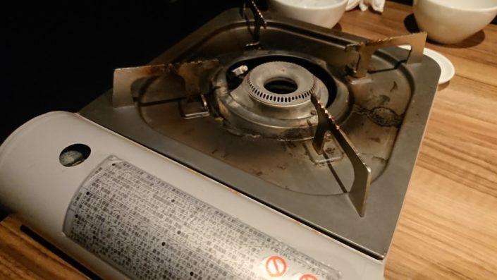 肉鍋用のコンロ