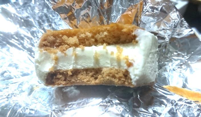 ボンボンロケットのチーズケーキ味の断面