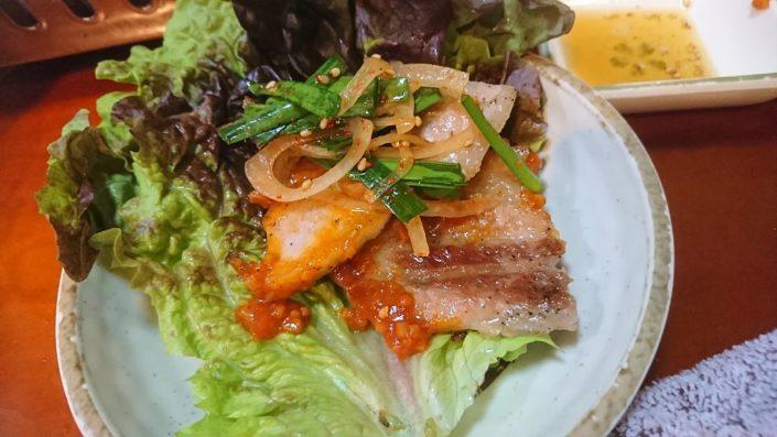 お肉と野菜とサニーレタス