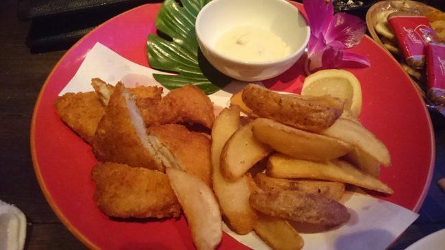 グランシャークのサメ肉のフィッシュアンドチップス