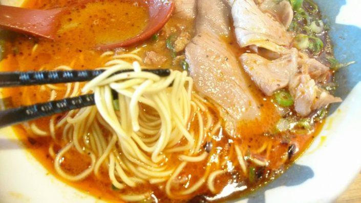 赤賀正の麺(ぼやけてる)