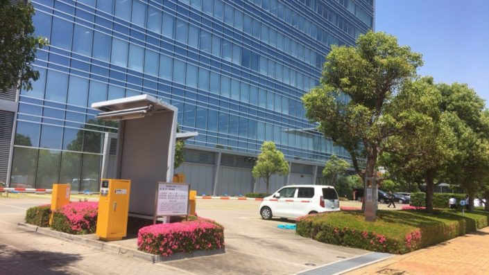 JICAの駐車場