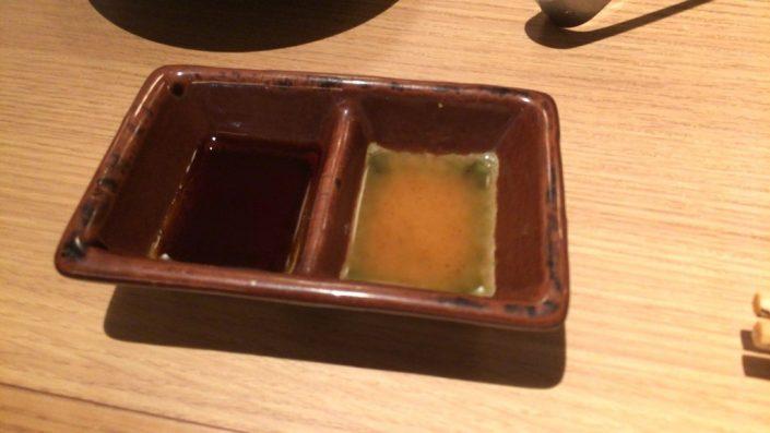 アナゴ三種盛りのタレ