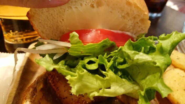 サウススウェルバーガーの野菜