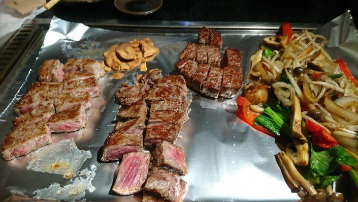 ステーキの全体写真