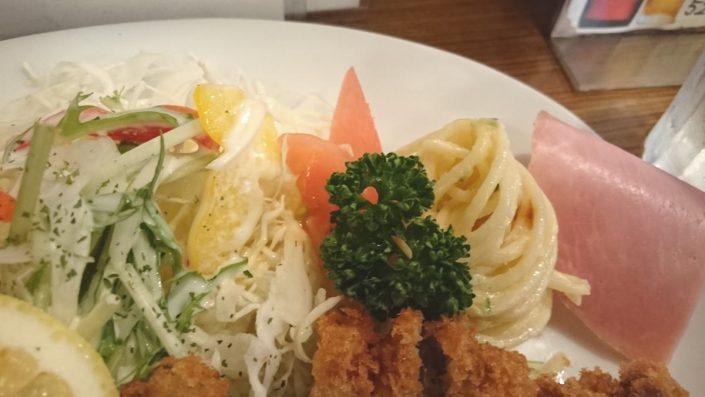 ビフカツランチの野菜部分