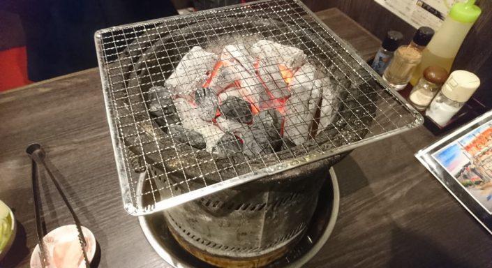 炭火のズーム