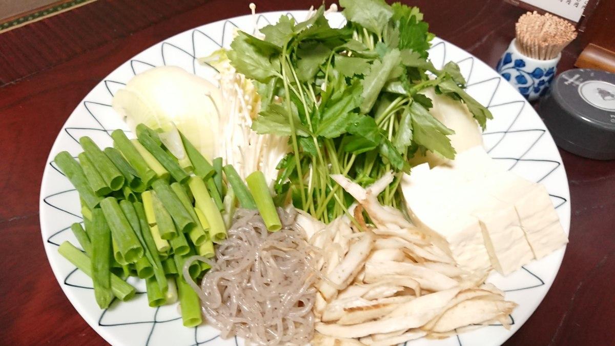 鱧すき鍋の野菜