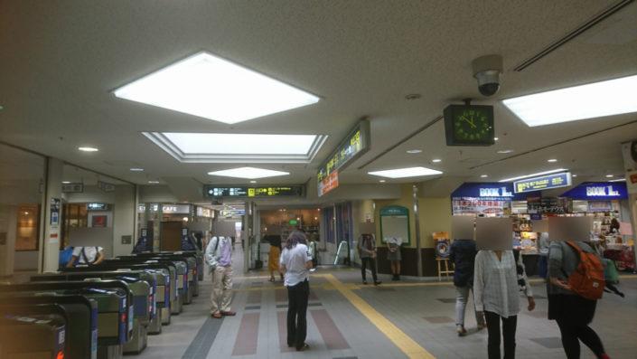 阪急六甲駅出てすぐのところ