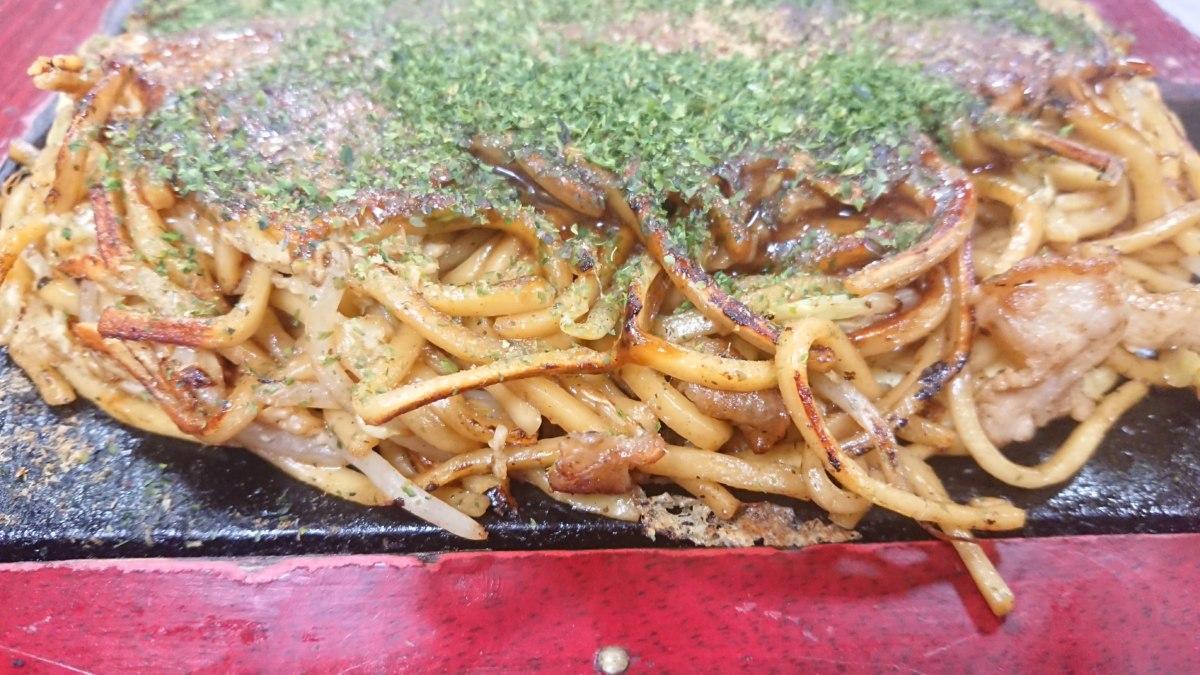 もり屋のモダン焼きの麺