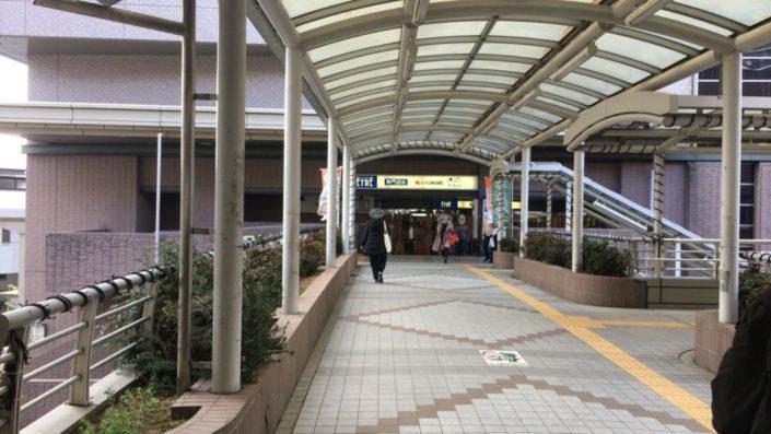 駅の歩道橋